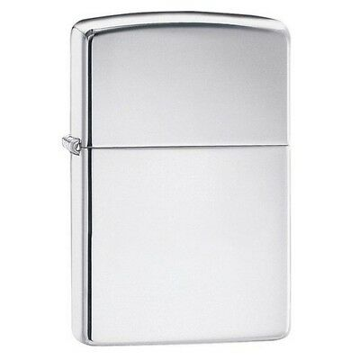 Zippo 250 Silver Windproof High Polish Chrome Classic Lighter
