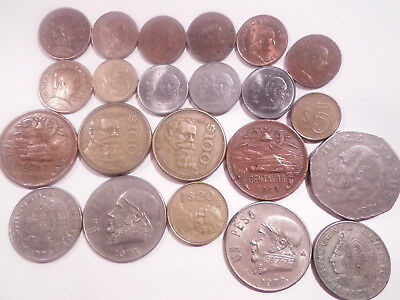 Mexican Coins Various Denominations -- 1958/1987 -- 25 Coins