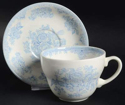 Burgess & Leigh ASIATIC PHEASANTS BLUE Breakfast Cup & Saucer 5594338