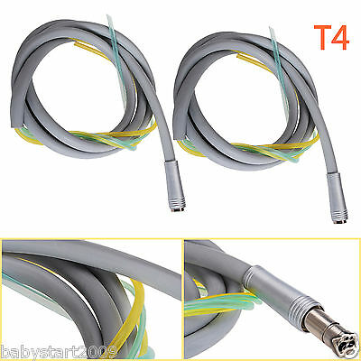 2* Dental Silicone Tubing Tube Cable Hose 4 Hole for High Slow Speed Handpiece