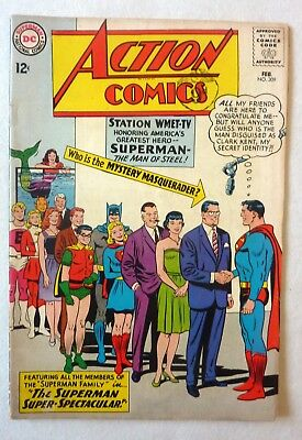 Action Comics Superman 309 DC NF/FN- JFK Assassination Recall Issue 1964