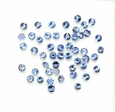 Natural Iolite Round Cut 1.50 mm Lot 50 Pcs 0.74 Cts Stunning Loose Gemstones