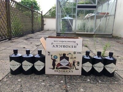 6 Hendricks Bottles Great Condition Wedding Gin