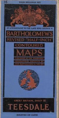 Bartholomews Revised Half-Inch Contoured Map s England Sheet 4 Teesdale