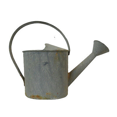 2L Shabby Chic Metal Galvanized Rustic Watering Can Retro Grey Rusty By AllChic