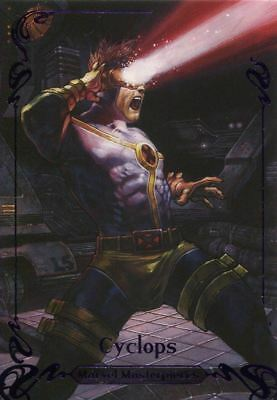 Marvel Masterpieces 2018 Purple [199] Base Card 66 Cyclops