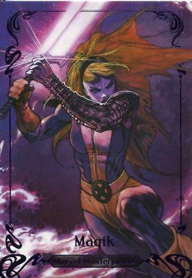 Marvel Masterpieces 2018 Purple [199] Base Card 35 Magik