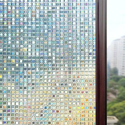 3D Window Films Privacy Film Static Decorative Film Non-Adhesive Heat Control