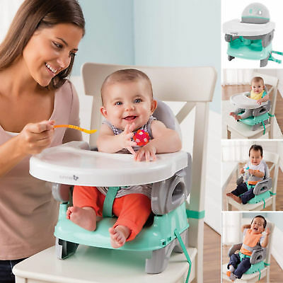 New Summer Infant Teal Grey Deluxe Grow With Your Child 3 In 1 Booster Seat