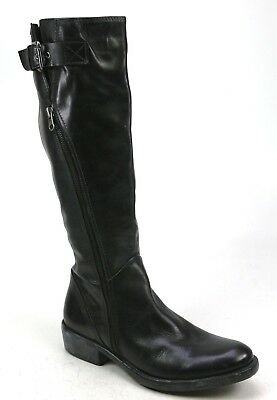 Womens Shoon Black Leather Classic Smart Work Knee High Riding Boots Size Uk 6.5