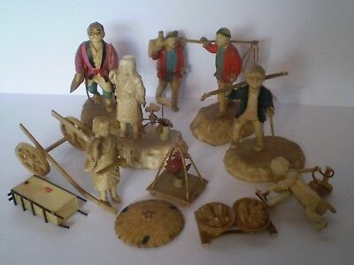 Stunning Job Lot Of Early Plastic Japanese Celluloid Figures....lot C