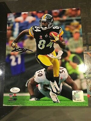 5325ed2f651 Antonio Brown Pittsburgh Steelers Signed 8X10 Photo Nm Jsa Authentic