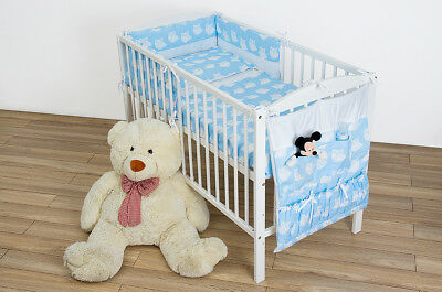 Baby Bedding Set 120/90Cot/Cot Bed Light Blue with Owls Duvet and Pillow Case