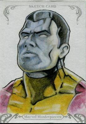 Upper Deck Marvel Masterpieces 2018 Sketch Card By Unknown Artist Colossus