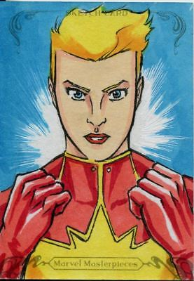 Upper Deck Marvel Masterpieces 2018 Sketch Card By Unknown Artist