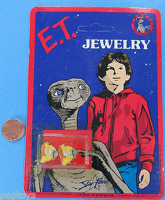 ET the Extra Terrestrial EARRINGS '82 vintage MOC Wig/Disguise
