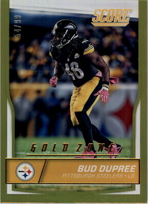 cc82c210e 2016 Score Jumbo Gold Zone Pittsburgh Steelers Football Card  257 Bud Dupree   99