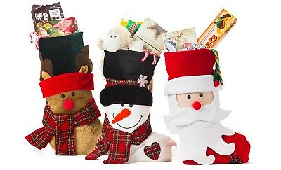 Christmas Stockings or Xmas Stockings with Santa and Friends 3 Pack