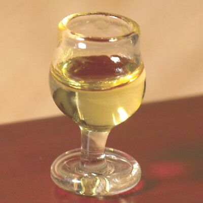 Dolls House Miniature: Large Glass of White Wine   in 12th scale