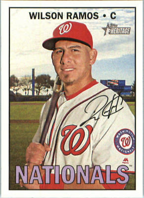 74bd0e847df 2016 Topps Heritage Washington Nationals Baseball Card  567 Wilson Ramos