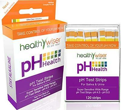 Healthy Wiser 120ct Tests Body pH Level strips for Alkaline & Acid levels
