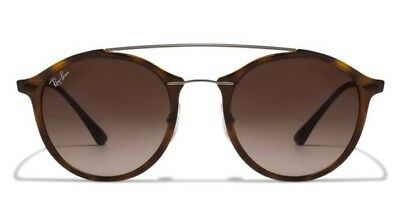 d0272ca6072f93 Authentic Ray-Ban RB 4266 6201 13 LightRay Tortoise Brown Gradnt Sunglasses