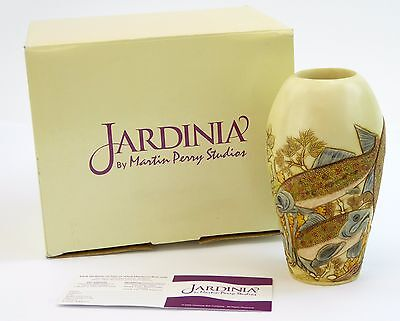Jardinia Cachepot Down River Fish Pot Jar Martin Perry Harmony Kingdom JALRTR