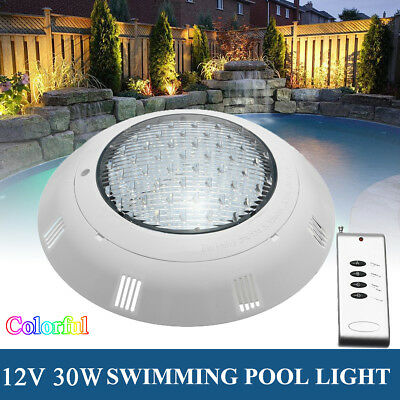 30W 12V 558 LED RGB 7 Color Underwater Swimming Pool Bright Light Remote Control