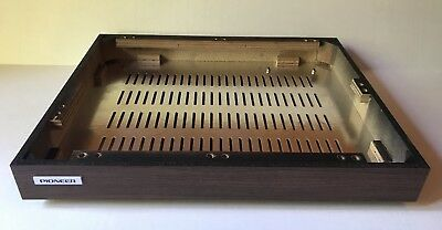 Pioneer PL-112D Turntable Wood Plinth with Feet And Bottom Cover Excellent Logo