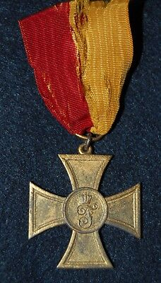 WWI BADEN  Cross for Voluntary Medical Aid - 1914-1916