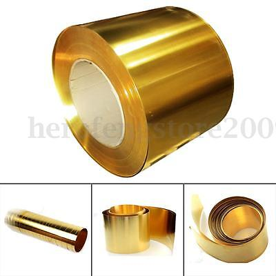 Brass Metal Thin Sheet Foil Flate Roll 0.02 x 100 x 1000 mm for Metalworking