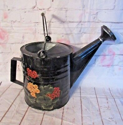 Vintage Galvanized Metal Watering Can Country Primitive Yard Decor Planter