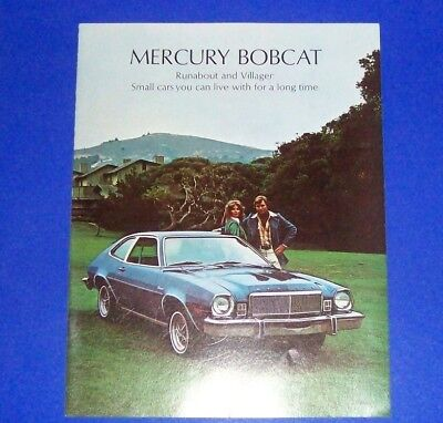1975 Mercury Bobcat Runabout and Villager Sales Brochure