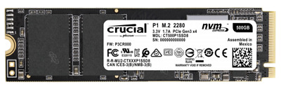 Crucial P1 500GB 3D NAND NVME PCIe M.2 SSD NEW