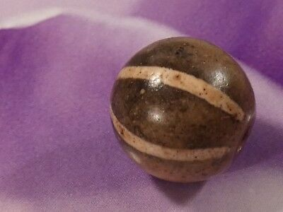 Ancient Etched Agate 6 Stripe Indo Tibetan Pyu Bead 14 Mm World Class Bead