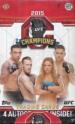 2015 Topps Ufc Champions Sealed Hobby Box-4 Autographs Free Shipping Conor