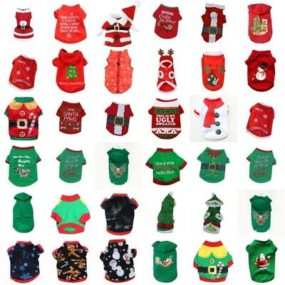 Xmas Pet Dog Costume Puppy Christmas Dress Apparel Hoodie Coat Outwear Clothes