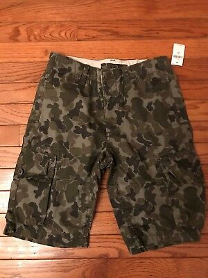 42401d8453 NWT GAP KIDS Boys Camo Ranger Green Cargo Shorts size 14 - $4.99 ...