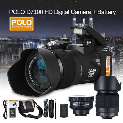 "POLO HD 33MP 3"" LCD 24X ZOOM Digital DSLR Camera Photo Video Camcorder LED Light"