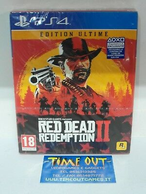Red Dead Redemption Ii 2 Ultimate Edition Sony Ps4 Nuovo Sigillato