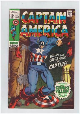 Captain America # 125  The Captive !  grade 8.5 scarce book !