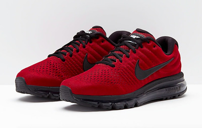 NIB NIKE AIR MAX 2017 MEN'S RUNNING SHOE 849559 603 Team Red/Black ALL SZ AUTHEN