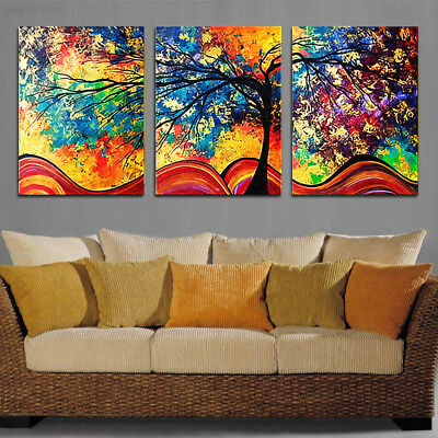 87DB 3Pcs/set Modern HD Print Pachira Macrocarpa Canvas Oil Painting Art Home De