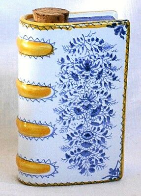 Majolica Flask In The Form Of A Book