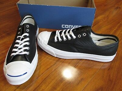 9cfc5879acb NEW Converse Jack Purcell Signature Ox Shoes MEN 11 Black Leather 149910C   120