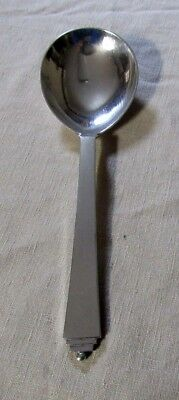 "Georg Jensen PYRAMID Sterling Silver 8"" Large Bowl Spoon Denmark 2.83 Toz"