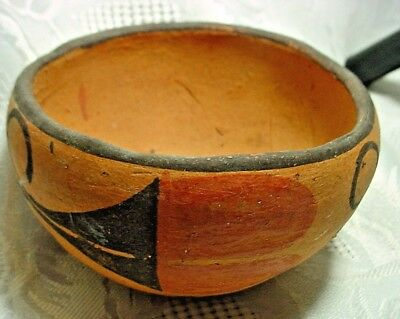 Vintage Native American Painted Clay Pottery Bowl-Excellent Condition