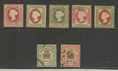 A2900: (7) 19th C Heligoland Stamps; Unchecked!