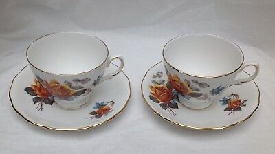 Royal Vale Bone China Vintage Tea Cup And Saucer Collectable