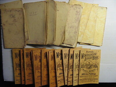 50 1878-1931 Account Books Lot Pierce's National Stoves Ranges Fowlerville MI
